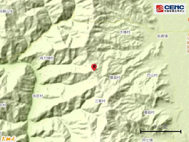 刚刚,四川西昌发生5.1级地震,震中距离攀枝花市中心约131KM!